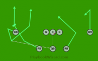 8 on 8 flag football play
