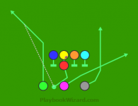 Full House ML3W PA Green Flag is a 8 on 8 flag football play
