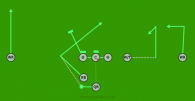 Line play is a 8 on 8 flag football play