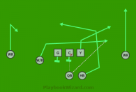 Under is a 8 on 8 flag football play
