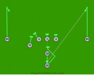 11 Comeback is a 8 on 8 flag football play