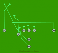 11 Fly TE QB Run is a 8 on 8 flag football play