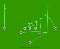 11 RB Pitch is a 8 on 8 flag football play