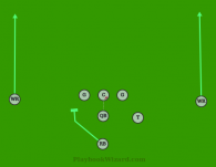 11 QB WR GO is a 8 on 8 flag football play