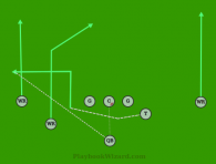 01 Moution W is a 8 on 8 flag football play