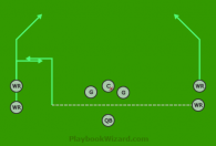 Silver Stack 2 is a 8 on 8 flag football play