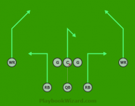 Silver Pro 1 is a 8 on 8 flag football play