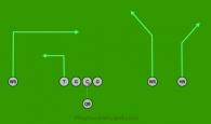 Three Wide 1 is a 8 on 8 flag football play