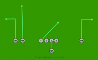 Three Wide 2 is a 8 on 8 flag football play