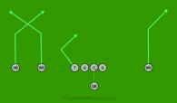 Three Wide 4 is a 8 on 8 flag football play
