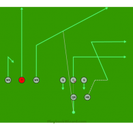 Trips 1 is a 8 on 8 flag football play