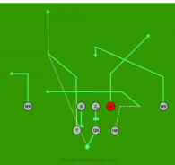 Tight 3 is a 8 on 8 flag football play