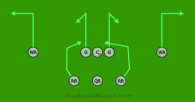 Balanced 41 Circle is a 8 on 8 flag football play