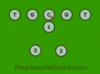 Pro Right Formation is a 8 on 8 flag football play